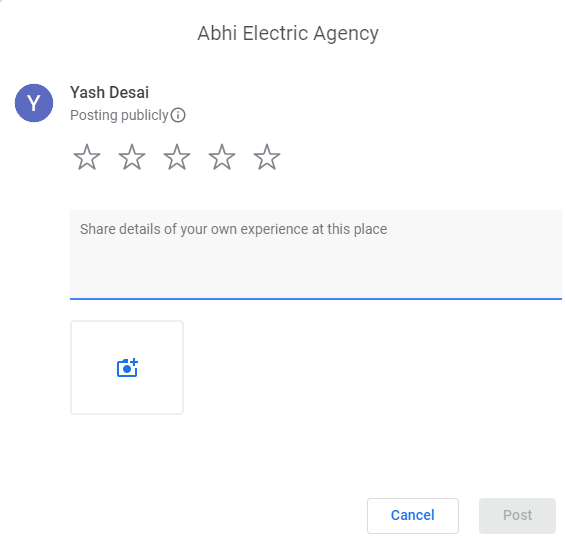 google review box example